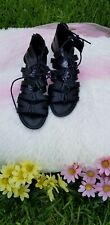 Trash Women's Black Gladiator Sandals low heel Sz. 9