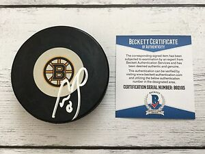 Cam Neely Signed Autographed Boston Bruins Hockey Puck Beckett BAS COA b