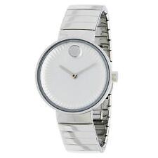 Movado 3680012 Women's Edge  Silver Concave Sandblasted  Aluminum Quartz Watch