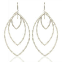 Traditional Handmade Silver Plated Brass Dangle Earrings Fashion Unique Jewelry