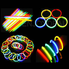 100pc Colorful Glow Sticks Party Glowsticks Glow Bracelets Light In The Dark New