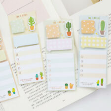 2pcs/lot Cactus Memo Pad Sticky Note Kawaii Planner Label Stickers Stationery