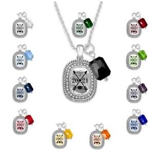 Class of 2021 Crossed Arrows Necklace Jewelry Graduation Senior Gift 12 Colors