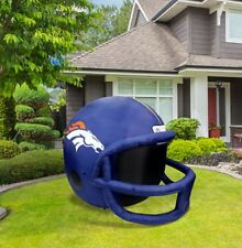 Denver Broncos 4-ft Inflatable Helmet NFL License + Pump + LED Lights + Tie Down