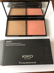 Kiko Milano Smart Blush and Bronzer Pallette 03 Sienna and Brick  Boxed