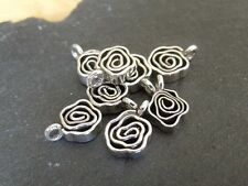 Thai Silver Wavy Spiral Charm - 12mm