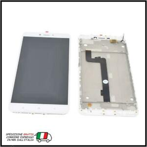 TOUCH SCREEN LCD DISPLAY CON FRAME PER XIAOMI MI MAX 2 MDE40 MDT4 BIANCO