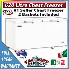 620 Litre Adelchi Commercial Grade CHEST FREEZER With Lock Security RRP $1499.00