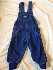 Vintage OshKosh B'Gosh Blue Corduroy Vestbak Overalls 2t USA