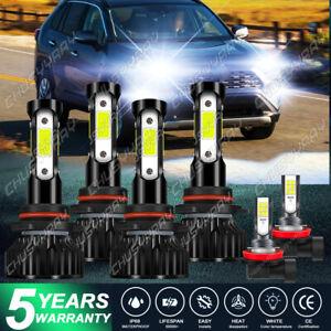 For Toyota RAV4 2013 2014 2015 LED Headlights High Low Beam + Fog Lights Bulbs