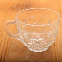 Anchor Hocking Clear Georgian Punch Glass Handle Drinking Cup