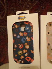 Fossil Galaxy S4 Phone Case - Silicone/Rubber - Cheetah Grey or Dark Turquoise