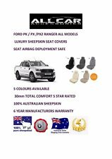 Ford Ranger Sheepskin Car Seatcovers for PK& PX1 &2, Seat Airbag Safe ,30mm TC