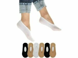 6 Pairs Hidden Shoe Liners Foot Cover Footies No-Show Low Cut Socks Ballet Flat