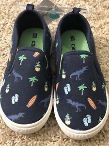 carter's dinosaur slip on shoes