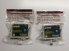 2 x Epson sombrilla t0442 cian XL c64 c66 c84 c86 cx3600 cx3650 cx6400 cx6600