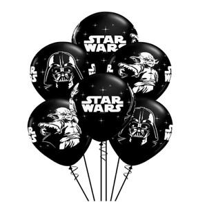 "Set Of 10 X 12""Star Wars Black & White Latex Birthday Party Balloons Decoration"