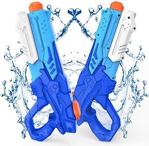 Kiztoys Pistola Acqua 2 Pack Giocattoli Pistole ad Acqua 600ML con Alta Capacità