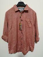 Mantaray Large shirt - Orange/ Salmon Pink - RRP £35 (S28)