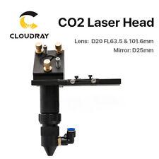 CO2 Laser Head FL.63.5mm Focal Focus Lens Dia.20mm Reflective Mirror Mount 25mm