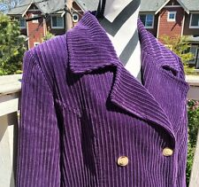 Nordstrom Purple Corduroy Pea coat Blazer Coat Jacket M