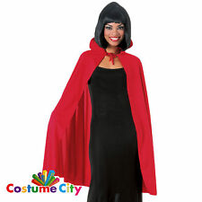 "Adult Luxury 45"" Red Gothic Vampire Count Cape Halloween Fancy Dress Accessory"