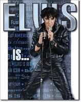 Elvis Is King Of Rock & Roll Icon Retro Vintage Wall Art Decor Metal Tin Sign