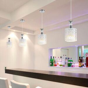 LED Ceiling Light Modern Crystal Iron Pendant Lamp Dining Room Chandelier Decor