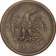 1863 Civil War Token WI55OA-1a R.5+ (R7 in Kanzinger) Town Rarity = 7