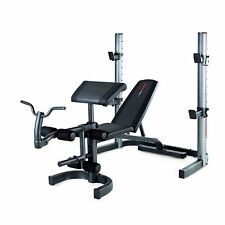 Weider Pro 490 DC Heavy Duty Olympic Flat Incline Weight Bench