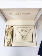Eduardo Verde Watch Necklace and Earrings Set