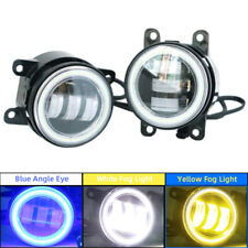 White/Yellow Dual Color LED Angel Eye Fog Light Kit For Honda Nissan Subaru Ford