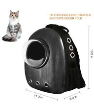 Black Small Pet Carrier Dog Cat Backpack Carrier Travel Chic