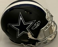 EMMITT SMITH SIGNED DALLAS COWBOY AUTHENTIC MATTE BLACK HELMET WHITE PEN BAS COA