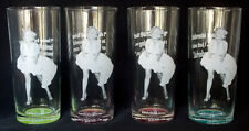 New listing Four Marilyn Monroe Collectible Glasses by Bernard of Hollywood