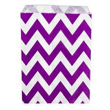 Paper Sweet Bags x25 - Purple Chevron Pattern Wedding White Craft Retro Vintage