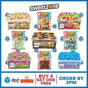 Halal Sweets Tubs Bags Cola Bottles, Bubble Gum Balls, Fried Eggs 960g 1kg HMC