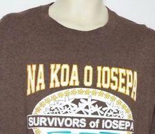 Hawaiian Na Koa O Iosepa Survivors of IOSEPA Short Sleeve Men's Shirt Size XL