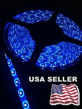 2 NEW 25' MARINE BOAT BLUE IP68 WATERPROOF LED STRIP LIGHTS 60LED/M WHITE PCB