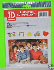 ONE DIRECTION STICKERS 1D LOUIS TOMLINSON 7PC CONSISTS OF 2 REG STICKERS 5 SMALL