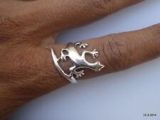 ring handmade rajasthan india sterling silver ring lizard