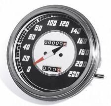 Tacómetro 1:1 Km/H PARA HARLEY DAVIDSON DASH Pala WLA FATBOB Tanque Flat PAN