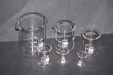 Measuring Beaker Set 5, 10, 25, 50, 100 and 250ml High Quality Glass Simax New