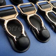 Stylish Golden Tone Corset Lingerie Hooks / Suspender Clips / Garter Belt Grips