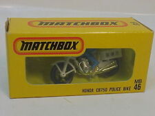 MATCHBOX JAPAN ISSUE MB46 HONDA CB750 POLICE MOTORCYCLE BIKE MIB