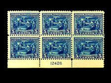 550 PILGRIM TERCENTENARY ISSUE 5 cent MNH Plate Block CV $700 L@@K