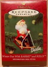 MIMB Vintage 2000 Hallmark WINTER FUN WITH BARBIE AND KELLY Mint!!