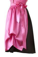 Dirndl Schürze pink  midi  Trachtenkleid NEU Trachtenschürze knielang rosa Satin