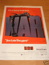 WAR VINTAGE ORIGINAL MOVIE POSTER 1970