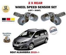 für Seat Alhambra 2010> NEU 2x Hinten Links+RECHTS Drehzahlsensor Set